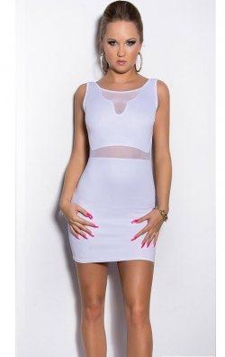 Askılı Beyaz Mini Elbise