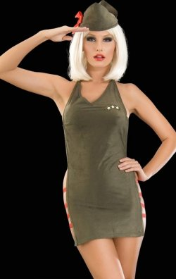 Seksi Bayan Asker Kostümü