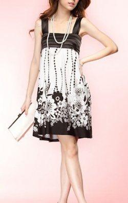 Çiçek Desenli Japon Style Elbise