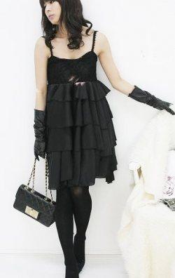 Fırfırlı Japon Style Elbise