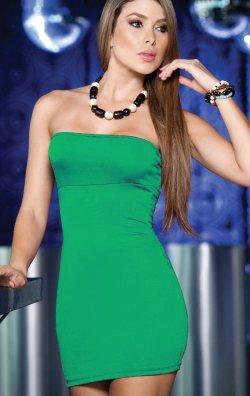 Yeşil Straplez Elbise