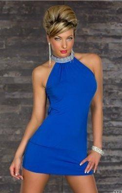 Mavi Şık Gece Kıyafeti