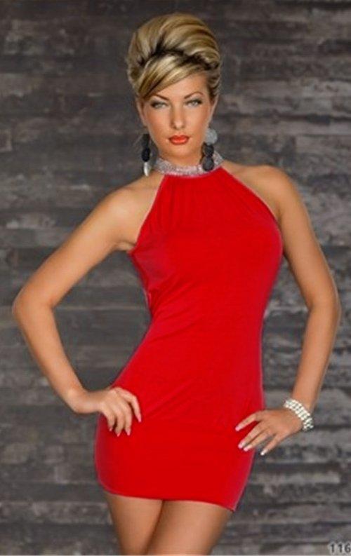 Kırmızı Şık Gece Kıyafeti