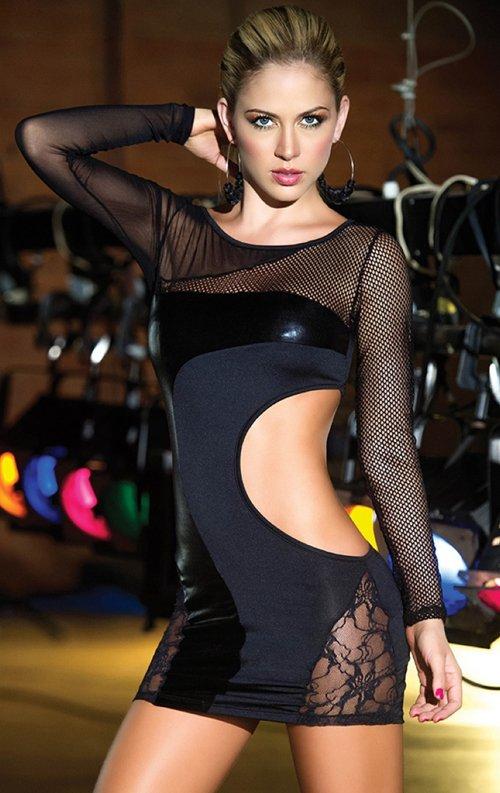 Fantazi Transparan Mini Elbise