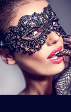 Dantel Tasarım Göz Maskesi