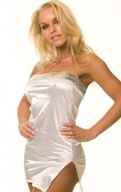 Beyaz Pul İşlemeli Straplez Mini Elbise