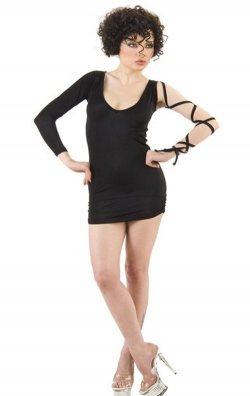 Kol Detaylı Fantazi Mini Elbise