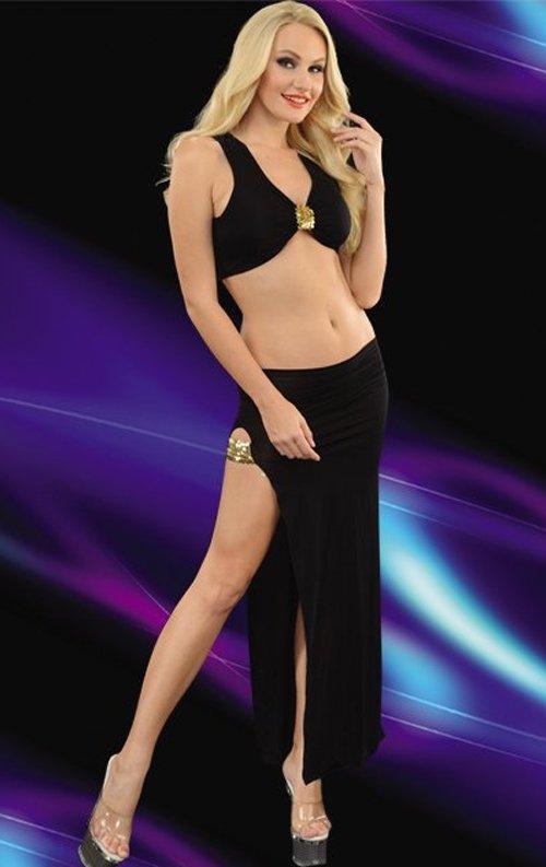 Siyah Uzun 2 Parça Uzun Elbise