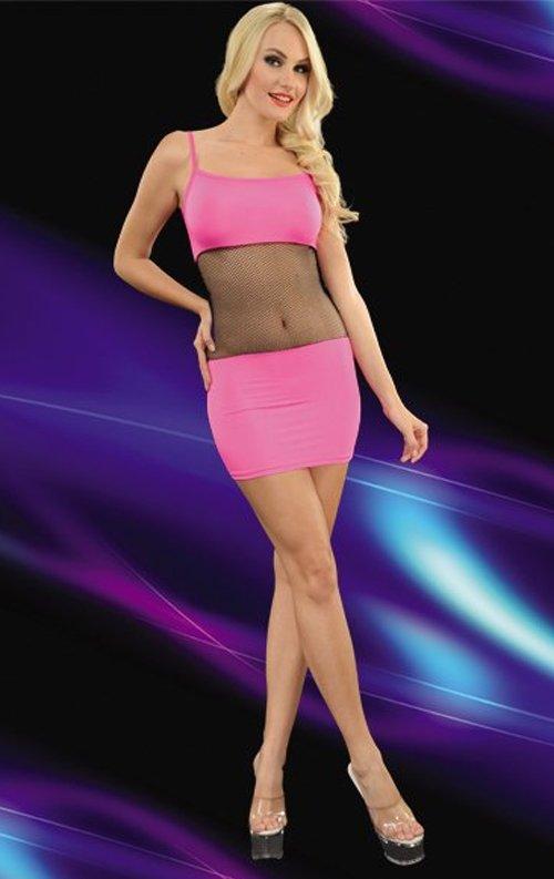 Göbek Dekolteli Fantazi Mini Elbise