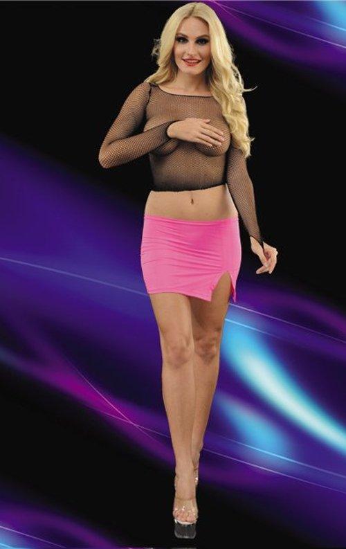File transparan Alt Üst Mini Elbise
