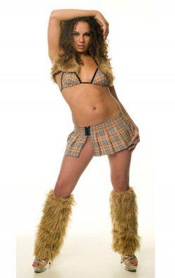 Tozluklu Ekose Kolej Kızı Kostümü