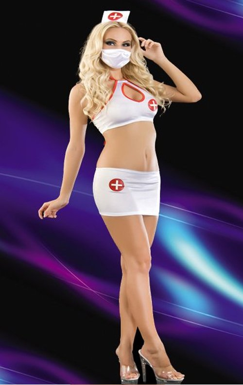 Beyaz Fantazi Hemşire Kostümü