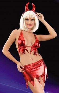 Kırmızı Şeytan Kadın Kostümü