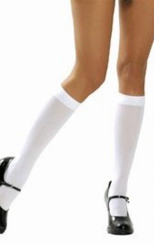 Beyaz Diz Altı Çorap