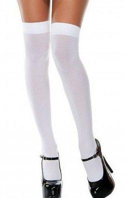 Beyaz Dizüstü Çorap