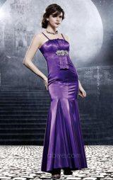 Balık Model Pileli Abiye Elbise