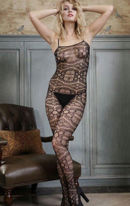 Fantazi Desenli Vücut Çorabı