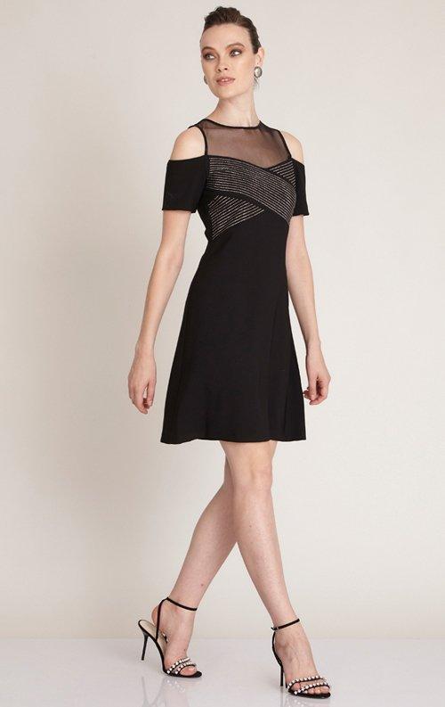 Özel Tasarım Siyah Kısa Abiye Elbise