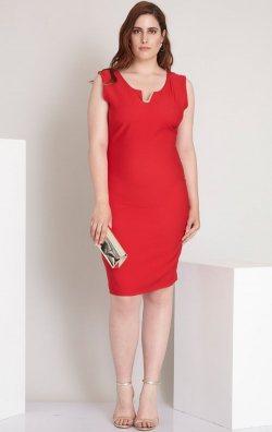 Kırmızı Büyük Beden Abiye Elbise