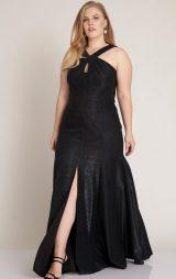 Siyah Büyük Beden Uzun Abiye Elbise