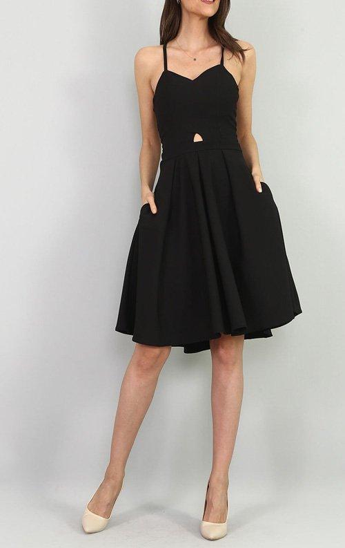 Siyah Sırt Detay Abiye Elbise