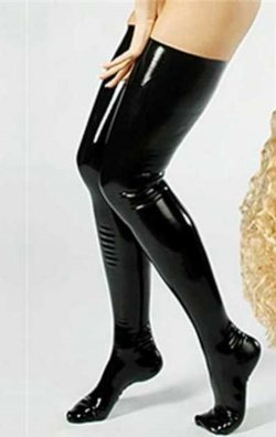 Parlak Lame Siyah Çorap