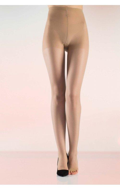Külotlu Çorap Şeffaf Burnu Açık Sahra Rengi