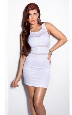 Dekolteli Beyaz Elbise
