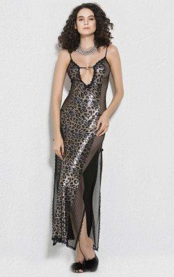 Mikro Uzun Gecelik Gold Kadın Giyim