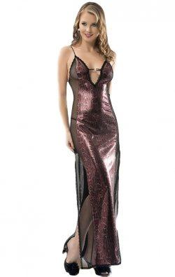 Mikro Uzun Gecelik Bordo Kadın Giyim