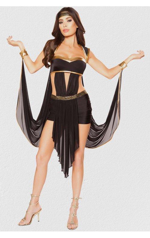 İşlemeli Siyah Dansöz Kostümü