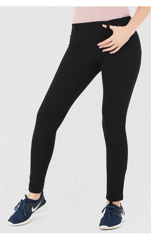 Siyah Cep Detaylı Pantolon Tayt