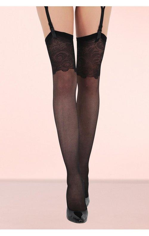 Jartiyer Çorabı Bridal Dantelli Siyah