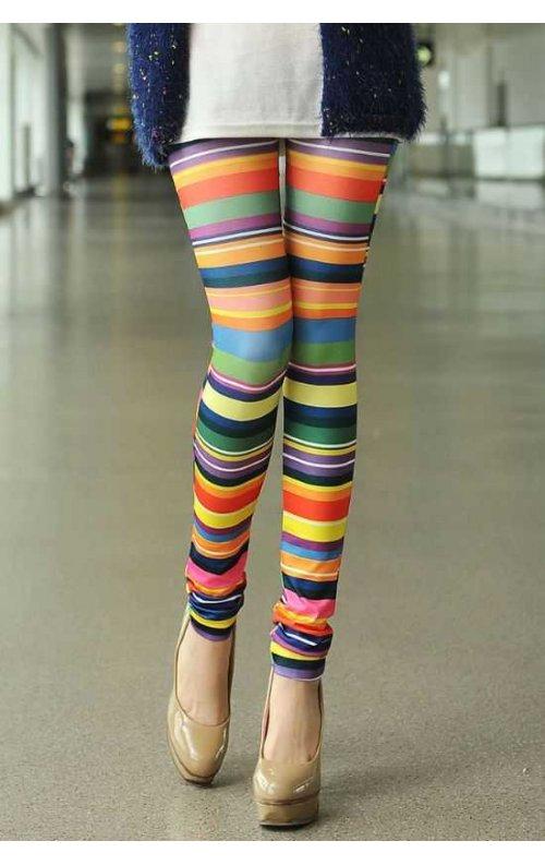 Renkli Şık Bayan Tayt