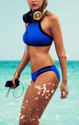 Mavi Şık Tankini Bikini Üst