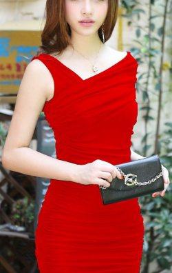 Japon Style Kırmızı Elbise