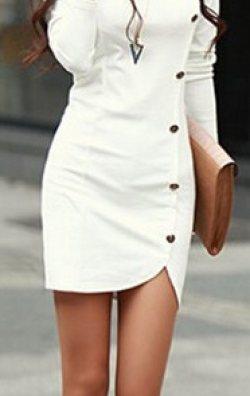 Uzun Kollu Tarz Elbise