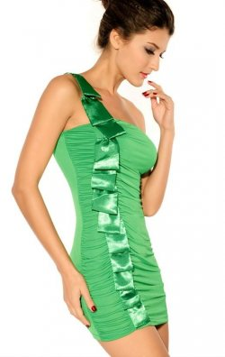 Mini Yeşil Elbise