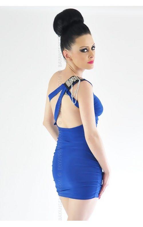 Saks Mavi Mini Club Elbise