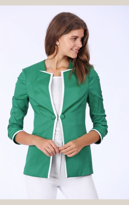 Şık Yarım Kollu Ceket - Yeşil
