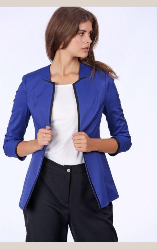 Şık Yarım Kollu Ceket - Saks