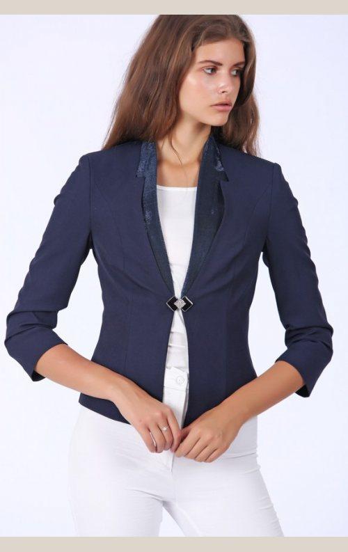 Şık Basic Ceket - Lacivert