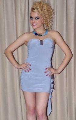 Büzgülü Mini Club Elbise