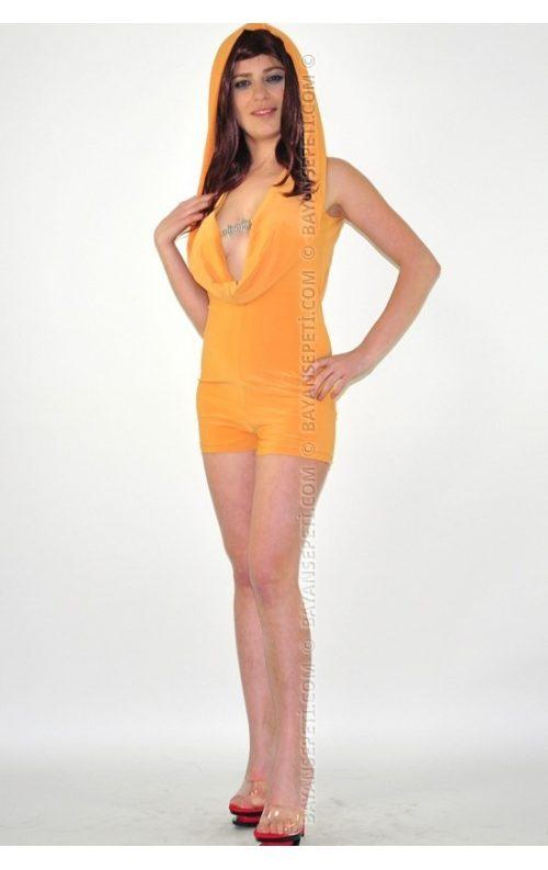 Kapşonlu Tulum Mini Club Elbise