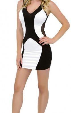 Dekolteli Tarz Mini Elbise