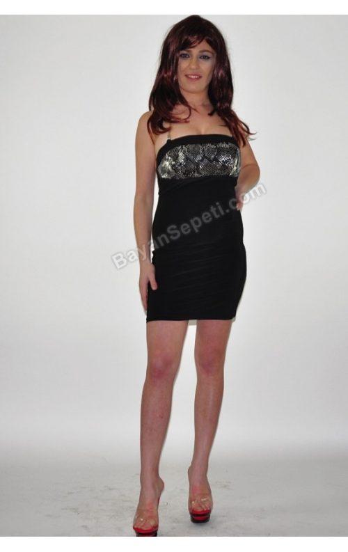 Straplez Mini Club Elbise