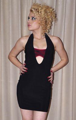 Siyah Mini Club Elbise