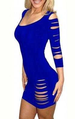 Yırtık Model Club Elbise