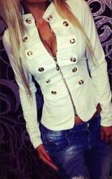 Düğmeli Bayan Ceket