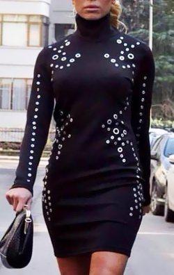 Zımbalı Elbise